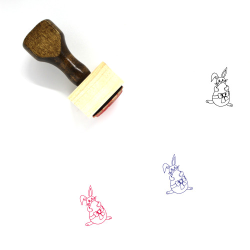 Easter Bunny Wooden Rubber Stamp No. 42