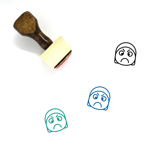 Angry Wooden Rubber Stamp No. 90