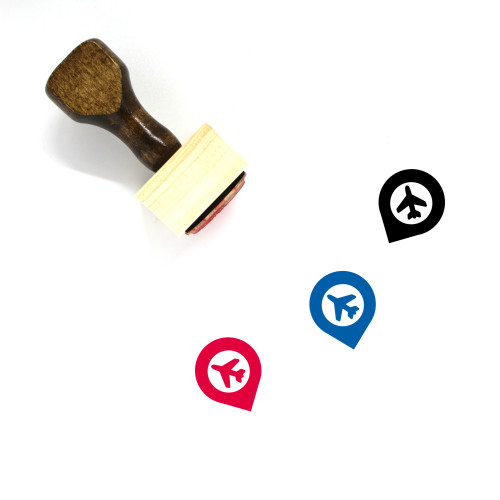 Airport Pin Wooden Rubber Stamp No. 1
