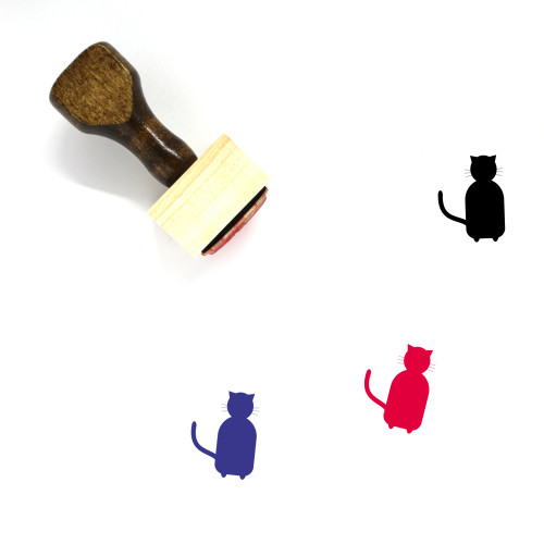 Cat Wooden Rubber Stamp No. 147