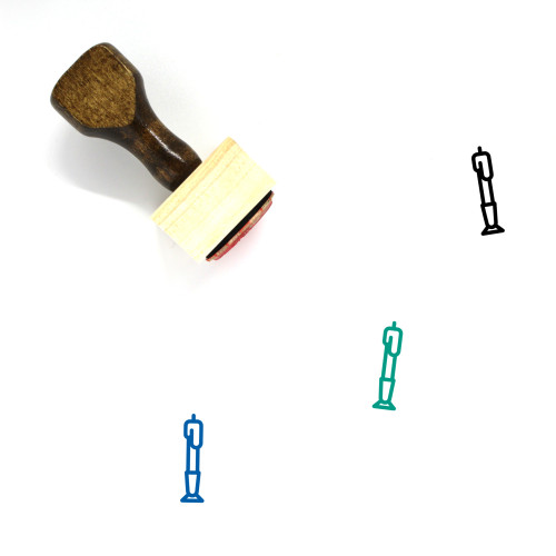 Candlestick Wooden Rubber Stamp No. 9