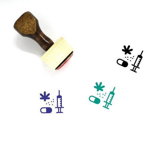Drugs Wooden Rubber Stamp No. 79