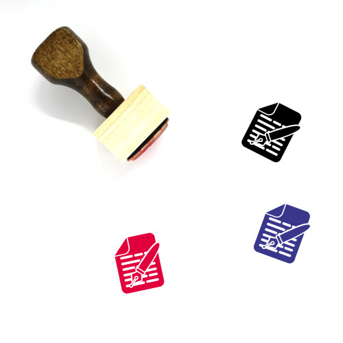 Writing Wooden Rubber Stamp No. 14
