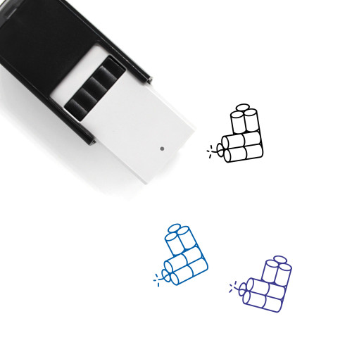 Dynamites Self-Inking Rubber Stamp No. 1
