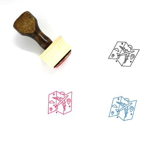 Trip Wooden Rubber Stamp No. 12