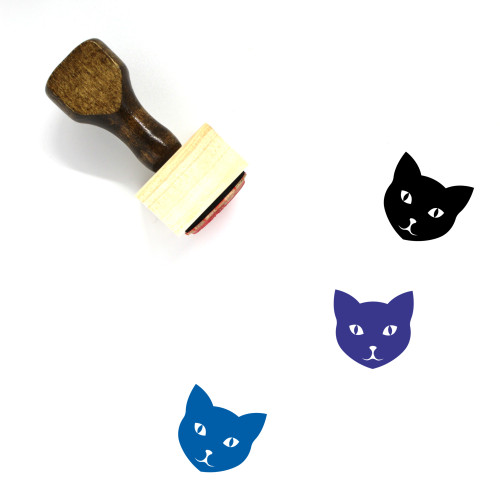 Cat Wooden Rubber Stamp No. 148