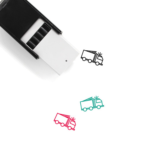 Fire Truck Self-Inking Rubber Stamp No. 40