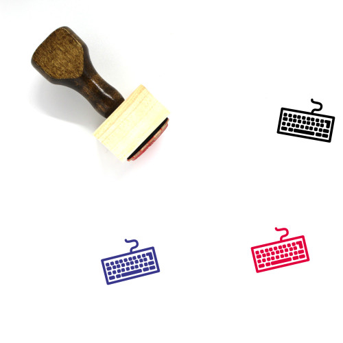 Keyboard Wooden Rubber Stamp No. 70