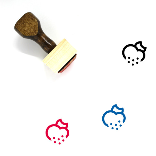 Night Snow Wooden Rubber Stamp No. 8