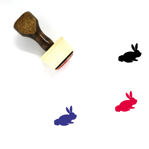Bunny Rabbit Wooden Rubber Stamp No. 1