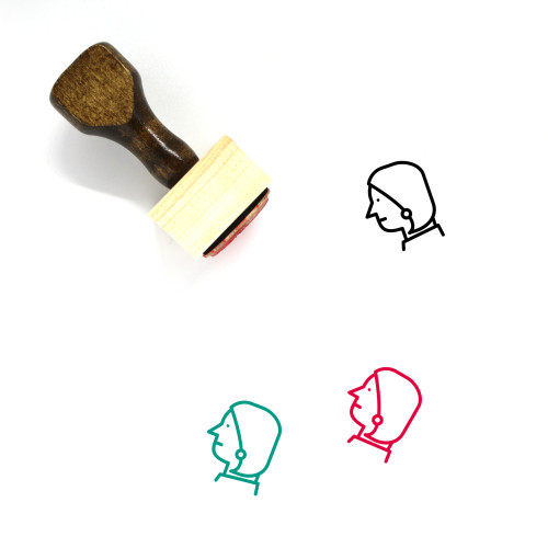 Woman Wooden Rubber Stamp No. 536