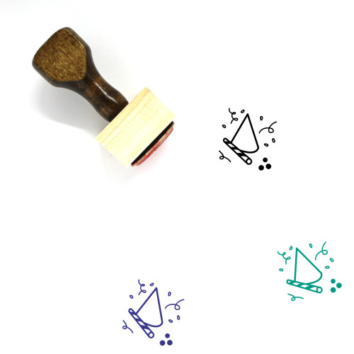 Party Wooden Rubber Stamp No. 41