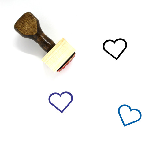 Heart Wooden Rubber Stamp No. 1454