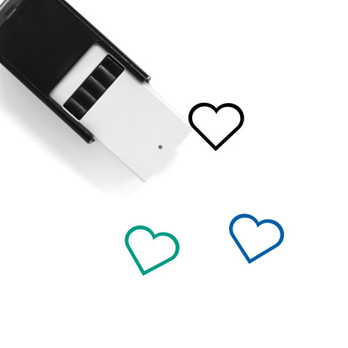 Heart Self-Inking Rubber Stamp No. 1454