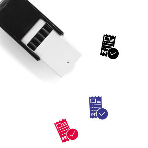 Paid Self-Inking Rubber Stamp No. 8