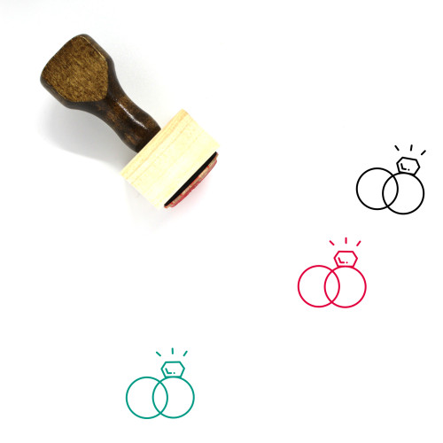 Engagement Wooden Rubber Stamp No. 26