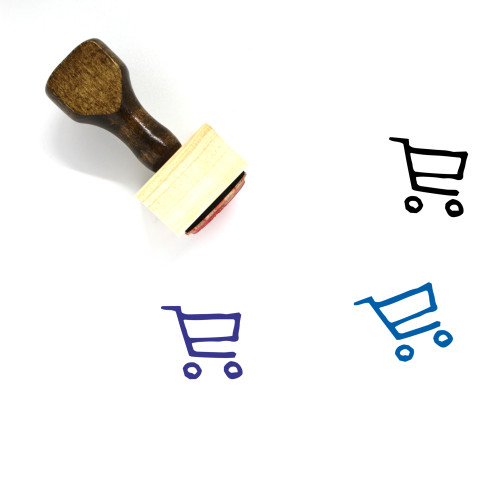 Shopping Cart Wooden Rubber Stamp No. 259