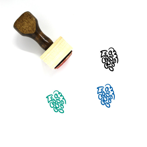 Grape Wooden Rubber Stamp No. 55