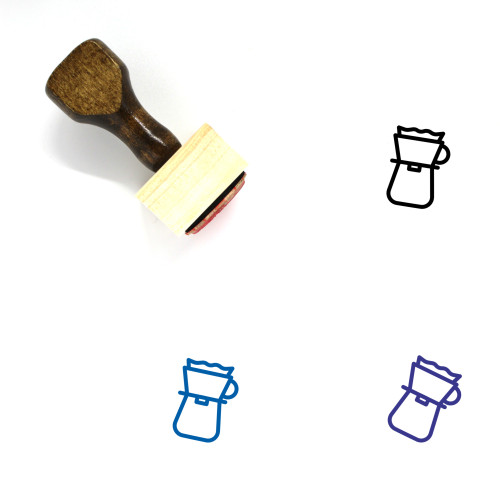Pour Over Brewer Wooden Rubber Stamp No. 1