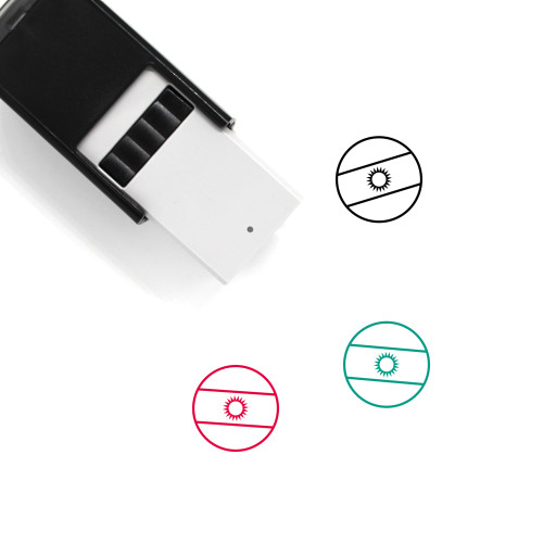 Flag Of Argentina Self-Inking Rubber Stamp No. 5