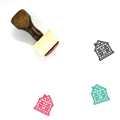 German House Wooden Rubber Stamp No. 1