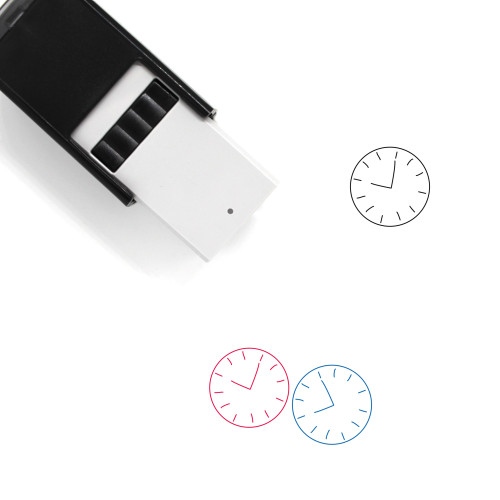 Clock Self-Inking Rubber Stamp No. 157