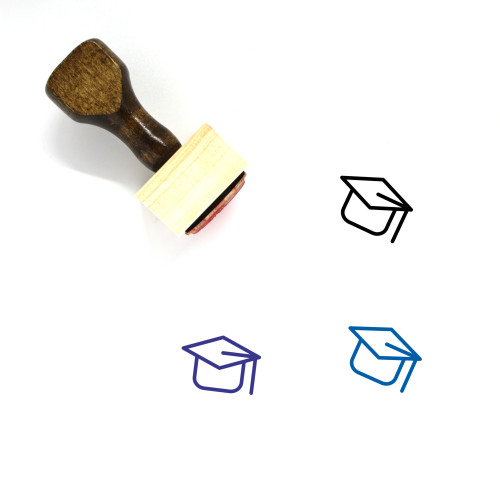 Mortarboard Wooden Rubber Stamp No. 34
