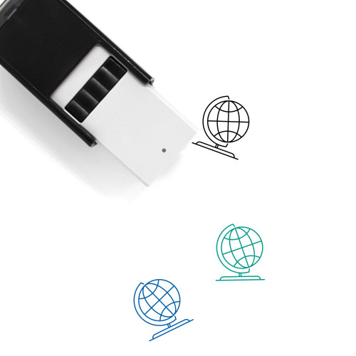Earth Globe Self-Inking Rubber Stamp No. 40