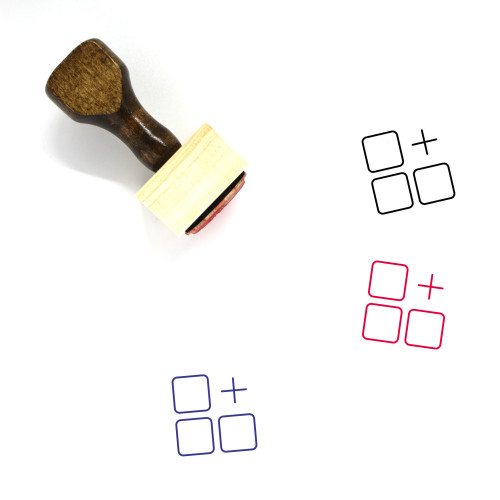 Add On Wooden Rubber Stamp No. 1