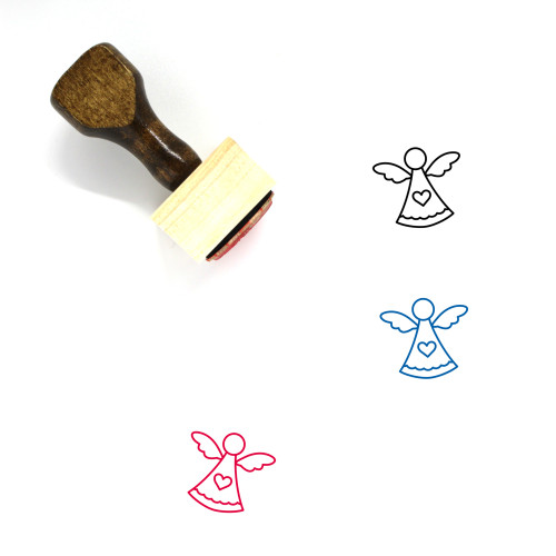 Angel Wooden Rubber Stamp No. 114
