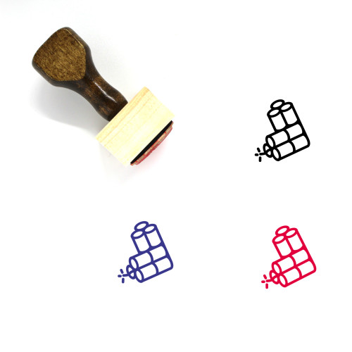 Dynamites Wooden Rubber Stamp No. 2
