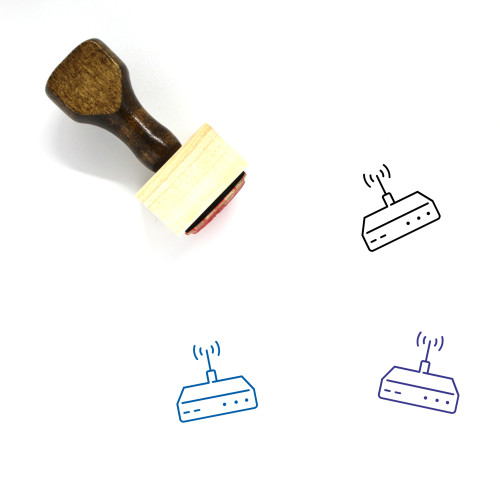 Router Wooden Rubber Stamp No. 2