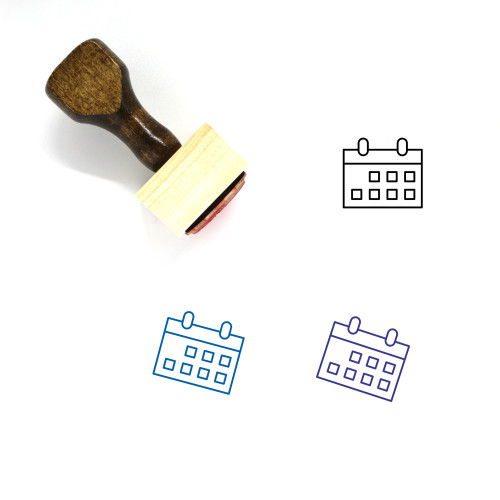 Calender Wooden Rubber Stamp No. 32