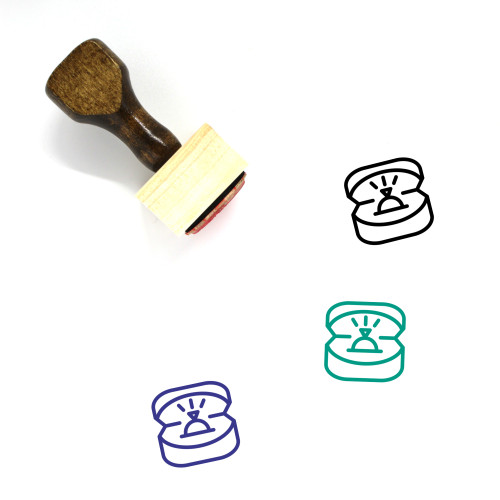 Wedding Ring Wooden Rubber Stamp No. 7