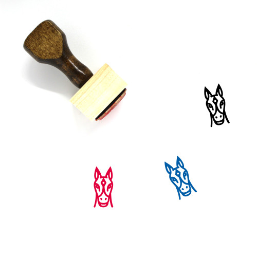 Horse Face Wooden Rubber Stamp No. 5