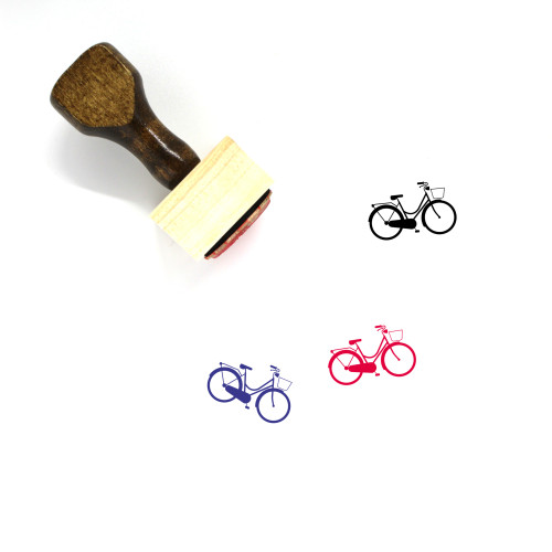 Bicycle Wooden Rubber Stamp No. 161