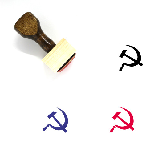 Hammer And Sickle Wooden Rubber Stamp No. 10