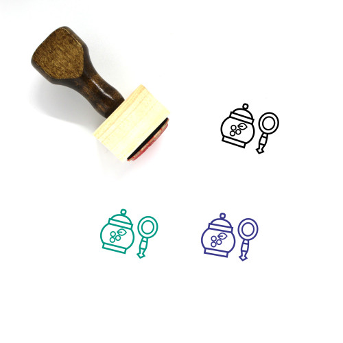 Russian Food Wooden Rubber Stamp No. 1