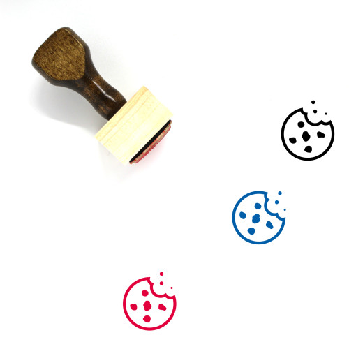 Chocolate Chip Cookie Wooden Rubber Stamp No. 5