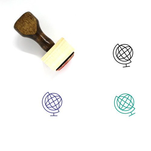Geography Wooden Rubber Stamp No. 72