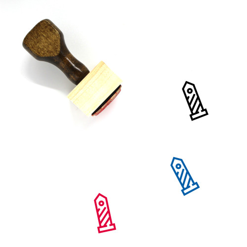 Customs Wooden Rubber Stamp No. 7