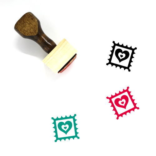 Love Letter Wooden Rubber Stamp No. 177