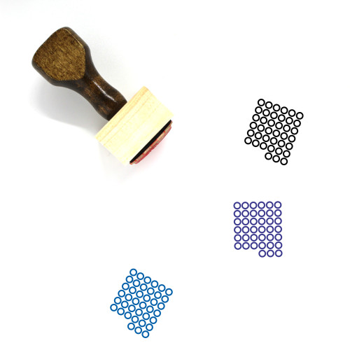 45 Wooden Rubber Stamp No. 1