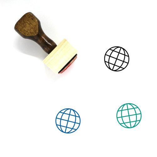 Globe Wooden Rubber Stamp No. 1265