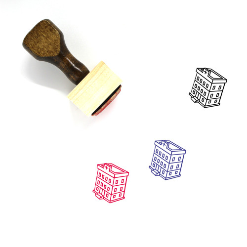 Hospital Wooden Rubber Stamp No. 188