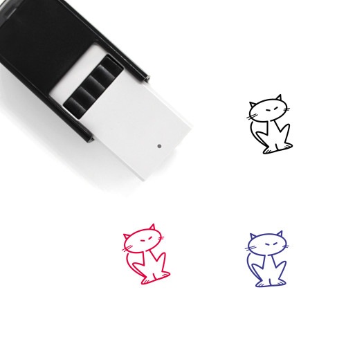 Black Cat Self-Inking Rubber Stamp No. 31