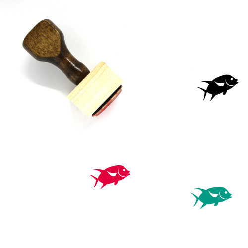 Fish Wooden Rubber Stamp No. 262