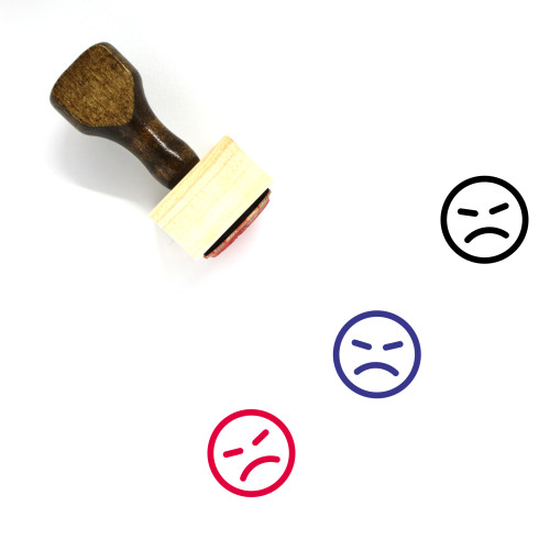 Angry Wooden Rubber Stamp No. 91