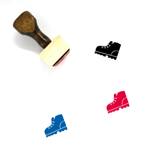 Hiking Boot Wooden Rubber Stamp No. 1