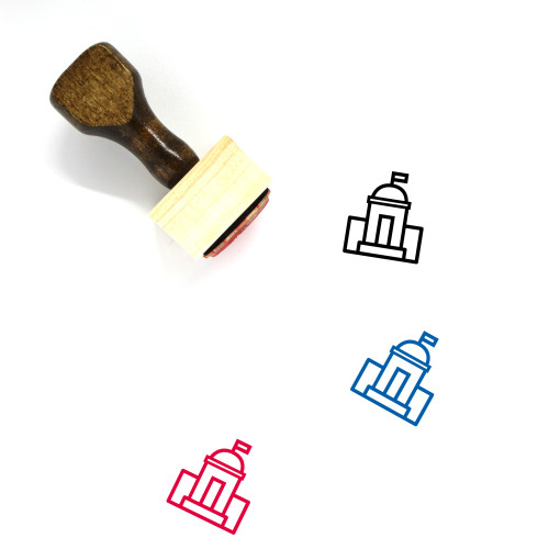Government Office Wooden Rubber Stamp No. 7